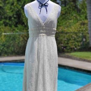 Calvin Klein lace Baby Doll V-neck Dress sz 8